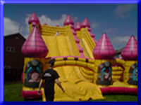 Inflatable Giant Slide hire, Blackpool, Lancashire and NW England